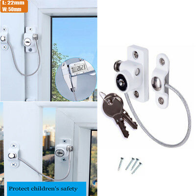 Security Window and Door UPVC lock Restrictor for Baby and Child Safety Cable UK