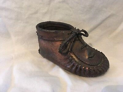 Antique Bronzed dipped Childs Shoe