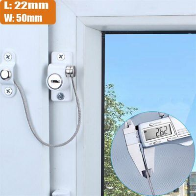 Window and Door Cable Restrictor KEY OPERATED Child Safety Security Locking