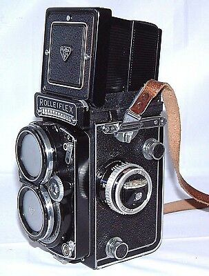 Rolleiflex 2.8 E2 Xenotar lens with hinged cap & strap Excellent condition, NR