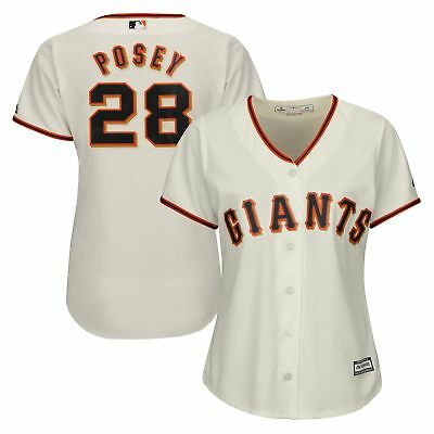 MLB San Francisco Giants Buster Posey Majestic Heim Trikot Baseball Shirt Damen