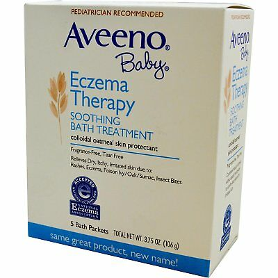Aveeno soothing baby bath eczema treatment, single use packets - 5 ea