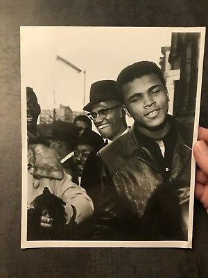 Original 8 X 10 Photograph Of Malcolm X And Cassius Clay By Robert L. Haggens