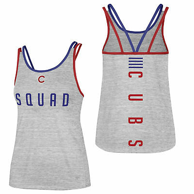 MLB Chicago Cubs 47 Forward Microlite Baseball Ärmellos Tank Top Trägertop Damen