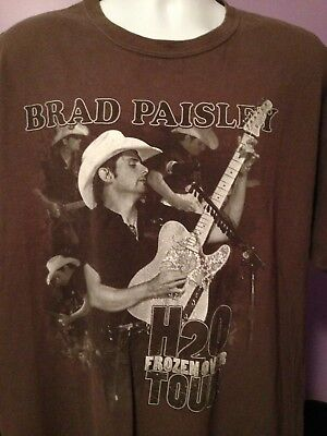 Brad Paisley Concert T-Shirt H20 Frozen Over Tour Size XL
