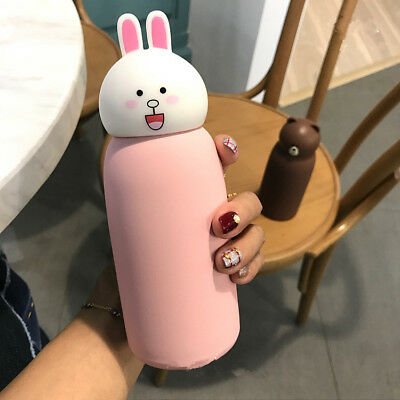 Lovely Bear Stainless Steel Vacuum Thermos Cup Tea Water Bottle Travel Mug