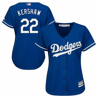 MLB Los Angeles Dodgers Clayton Kershaw Wechsel Trikot Baseball Shirt Damen