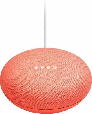 Google Home Mini Smart Assistant - Coral Red BRAND NEW SEALED