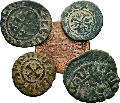 Cilicia Armenian Coins, Lot of 5 AE