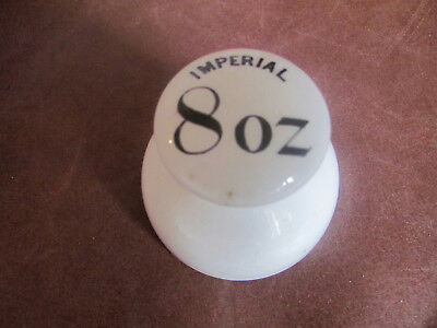 antique 19th C. IMPERIAL PORCELAIN 8 OUNCE GROCERS SHOP WEIGHT'. Lovely cond.