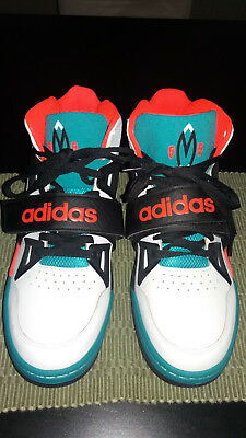 best website 81ca0 9450f Adidas Mutumbo Shoes Basketball Size 13 US Mens White Teal TR Block