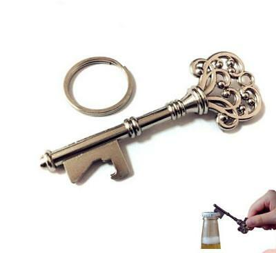 Key Shape Beer Bottle Handle Opener Kitch Bar Tools Metal Keychain Keyring G