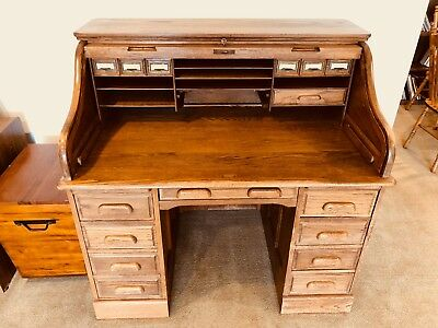 e8ed11b955433 AMISH ROLLTOP DESK Home Office Furniture Solid Oak Wood -  100.00 ...