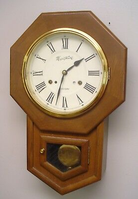 Vintage Montgomery Ward Schoolhouse Time and Strike Clock