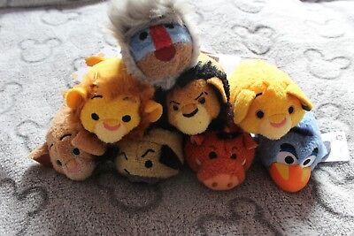 Disney Lion King Tsum Tsums FULL SET WITH TAGS