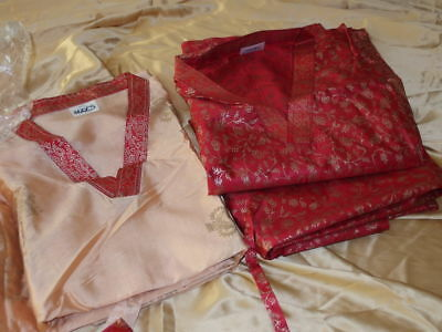 2 x Kaftan Seide Satin 2xl 3xl Kleid Gewand long dress silk xxl xxxl Caftan 4xl