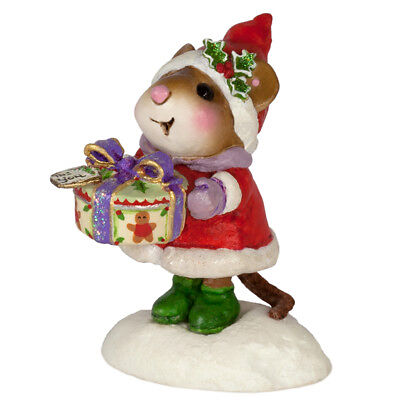 GIFTING GOODIES by Wee Forest Folk, WFF# M-599, Christmas Mouse