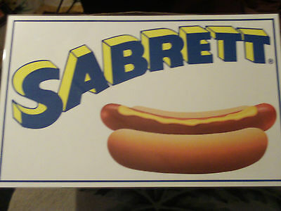Sabrett Sign Hot Dog New  Look  Sale  Ny.dogs Soft Flex