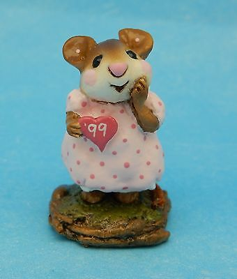 GIRL SWEETHEART by Wee Forest Folk, M-80, Mouse Expo 99 Event Piece, 1 of 36