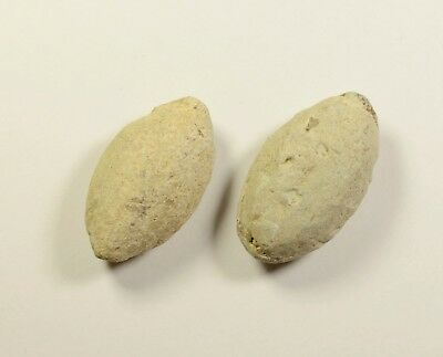 Ancient Greek Military Lead Sling Bullet Shot - LOT OF 2 / 71 grams