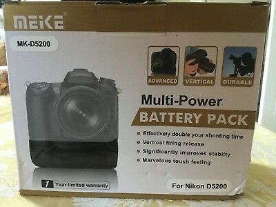 Meike Battery Grip For Nikon D5200 (boxed / barely used - 100% To Charity)