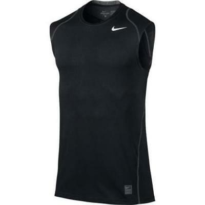 f5fbb86ae023 NWT Nike Men s Dri-Fit Pro Cool Fitted Sleeveless Tee Size S M 703102