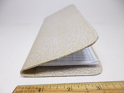 Bay State Exclusive Pearl Stingray Pattern Cowhide Leather Checkbook Cover-USA