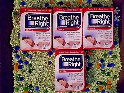 Lot Of 88 Breathe Right Clear Tan Nasal Strips +8 Free Strips!!