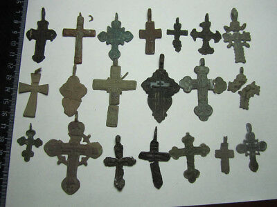 Metal detector finds.Mix lot  ancient crosses  140 pieces.