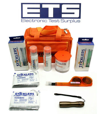 Sticklers Fiber Optic Cleaning Kit w/ Carrying Case MCC-FAI MCC-WFW