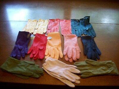 Vintage Ladies Women's Gloves Small Size Lot of 11-Some with the Tags.