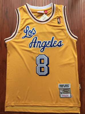 a7e9f0d17 Kobe Bryant Basketball Jersey Los Angeles Lakers Yellow Throwback Classic  Sewn