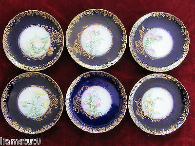 Haviland Hand Painted Cabinet Plates - Set Of 6