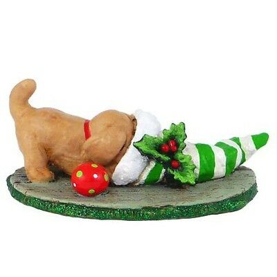 NAUGHTY OR NICE? by Wee Forest Folk, WFF# M-286a LTD, Tan Puppy