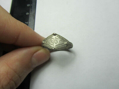 Medieval Silver ring.   Metal detector finds  100% original
