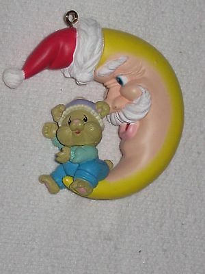 1994 High Progress Christmas Ornament Chipmunk Mouse On The Moon With Santa Hat
