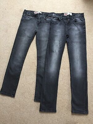 Levis 510 boys Skinny Jeans Grey Age 10 (2 Pairs)