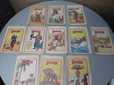 Lot of 11 Retro The Rover Comic Photo book 1931 No.s in 455 - 477