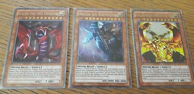 YuGiOh Obelisk Tormentor Slifer the Sky Dragon Winged Dragon Of Ra Orica Art