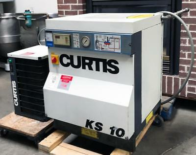 Curtis Ks-10 Rotary Screw 10Hp Air Compressor With Cr35 Refrigerated Air Dryer