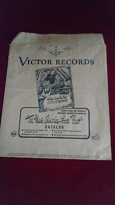 Vintage Victor Records RCA Advertising Paper Shopping Bag