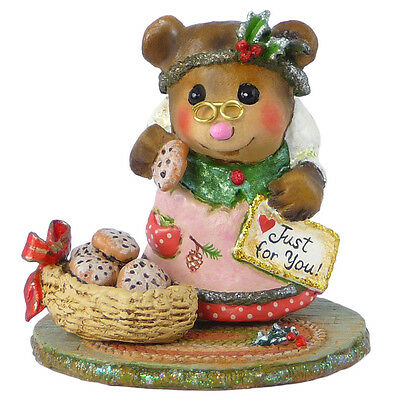 JUST FOR YOU by Wee Forest Folk, WFF# BB-19, PINK, Bear Series Christmas 2014