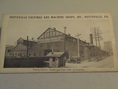 Pottsville Castings and Machine Shops, Inc., Pottsville, Pa., Blotter