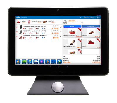 """10"""" Touchscreen POS Android Tablet with Swivel Stand"""