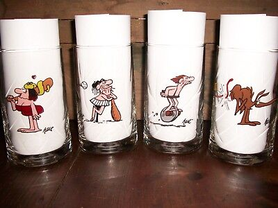 1981 Arby's B.C. Comics Ice Age Collector Series Glasses Lot of 4 different NICE