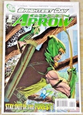 2010 Dc Comics Green Arrow Brightest Day #1 1:25 Ethan Van Scriver Variant Vf/nm