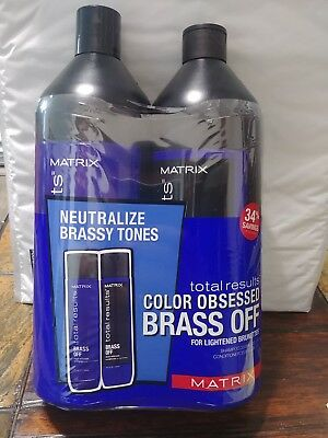 Matrix, Obsessed Brass Off , Shampoo & Conditioner (33.8 fl oz each) Duo Pack