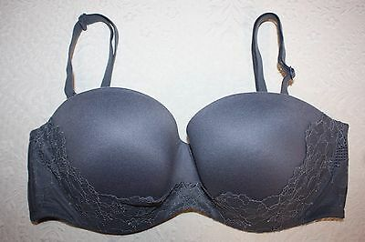 7979122c9a Victoria s Secret Body by Victoria Lined Strapless Multi-Way Bra GRAY 34D  NWOT