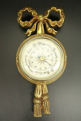Barometer, Knot Decor, Louis Xvi Style - Bronze - French Antique