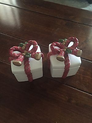 Fitz and Floyd Christmas Lidded Boxes